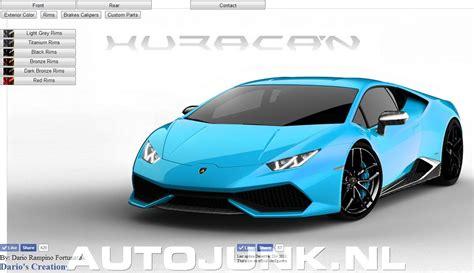 Lamborghini Configure My Lamborghini Hurac 225 N Configurator Foto S 187 Autojunk Nl
