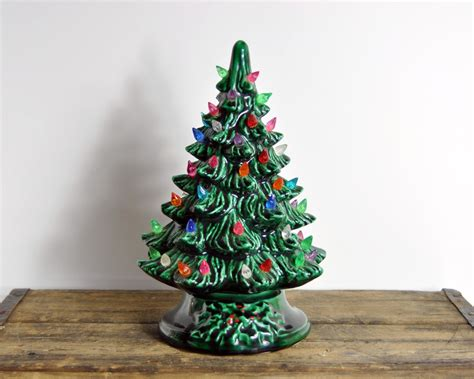vintage ceramic christmas tree by havenvintage on etsy