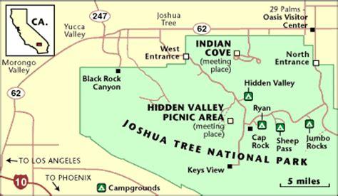joshua tree map joshua tree rock climbing school directions how to get