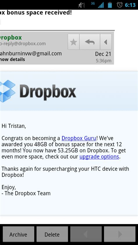 dropbox memory htc to give users extra dropbox storage with ics