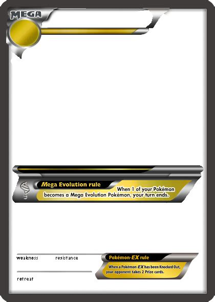 Ex Card Template by Mega Template By Puppyman66 On Deviantart