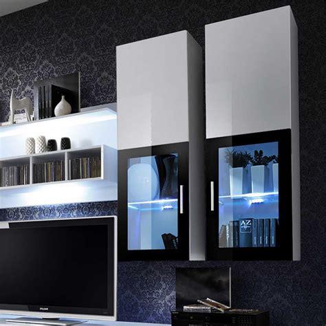 Meuble Tv Mural Noir by Meuble Tv Mural Design Quot Lyra Quot 300cm Noir Blanc