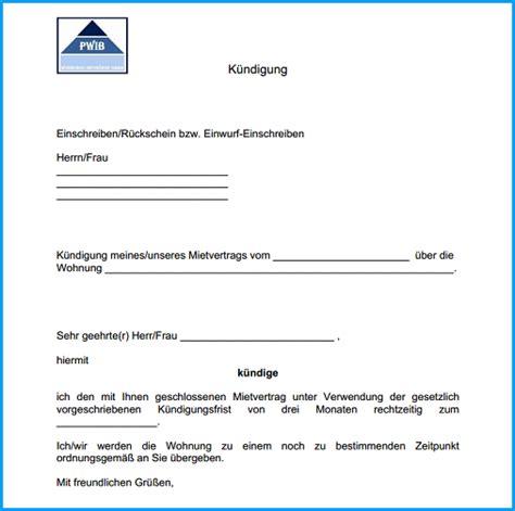 mustermietvertrag wohnung 8 wohnung k 252 ndigung vorlage rechnungsvorlage