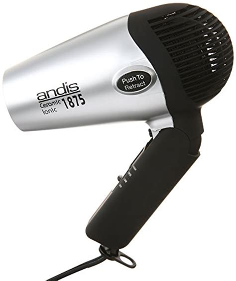 Andis Hair Dryer Bag andis 1875 watt fold n go ionic hair dryer silver black