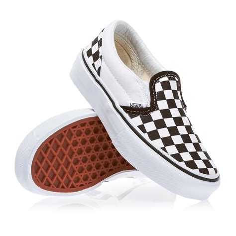 Vans Slip On Checkerboard Gum Limited Stock Premium vans classic slip on boys shoes checkerboard black true white free delivery options