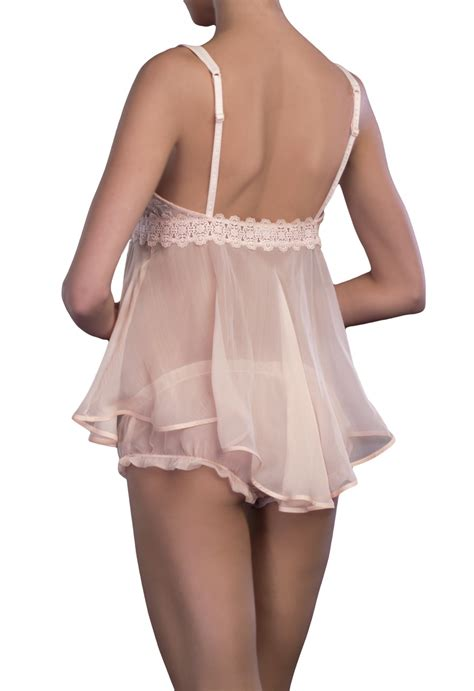Laluna Set Pink 02 la perla baby doll sets in pink lyst