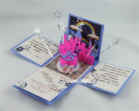 princess theme exploding invitation for quinceanera