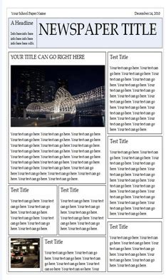 Wonderful Free Templates To Create Newspapers For Your Class Educational Technology And Mobile Microsoft Powerpoint Newspaper Template