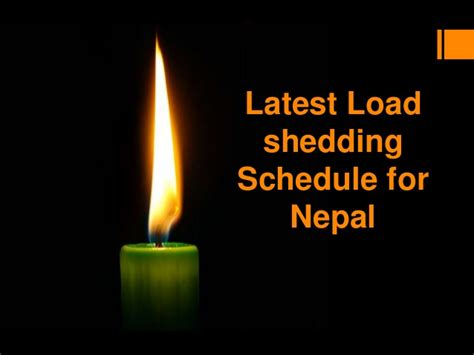 loadshedding schedule for nepal