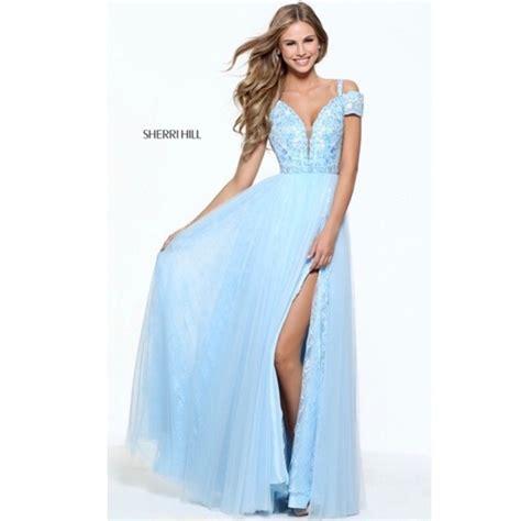sherri hill light blue dress sherri hill dresses light blue embroidered prom dress