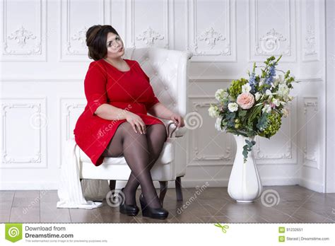obese professional women obese professional women plus size fashion model in red