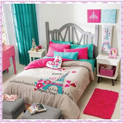 blue comforter sets for girls new girls gray aqua blue pink paris comforter bedding