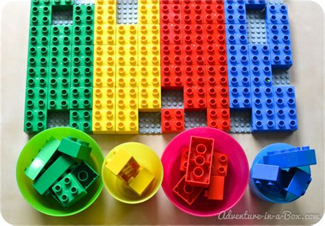 sort colors lego colour and shape sorting