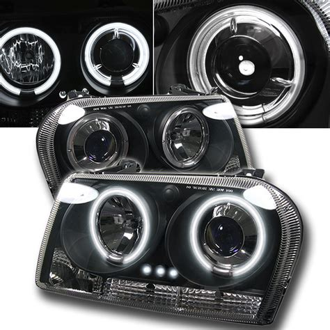 Halo Headlights For Chrysler 300 by 09 2010 Chrysler 300 Dual Halo Led Projector Headlights