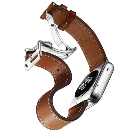 Apple 38mm 42mm Hermes Tour Wrist Leather Premium deployment buckle single tour for apple band for iwatch series 1 2 belt for hermes