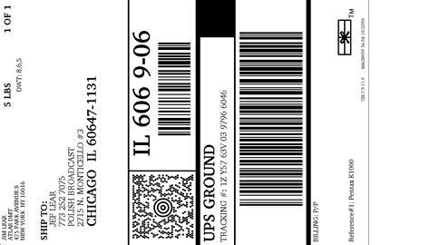 printable ups label ups internet shipping shipment label
