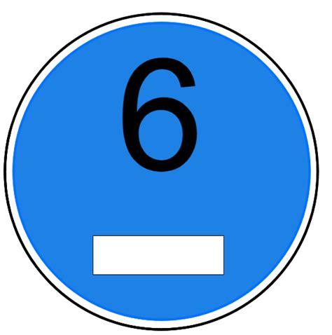 Aufkleber Euro 6 german blaue plakette blue sticker for diesel euro 6