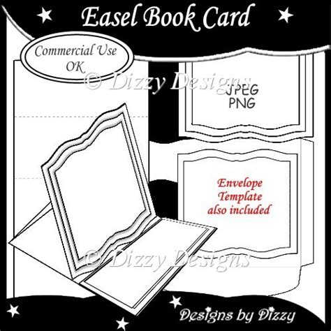 open book easel card template easel book card template 163 3 00 instant card