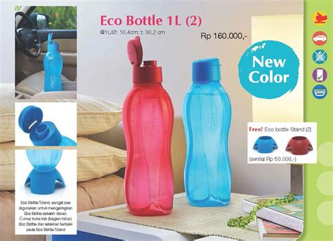 Lock Lock Water Bottle 2 1l Biru buy harga spesial tupperware eco bottle 1l desain baru
