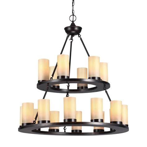 Shop Sea Gull Lighting Ellington 30 In 18 Light Burnt Chandelier Lighting