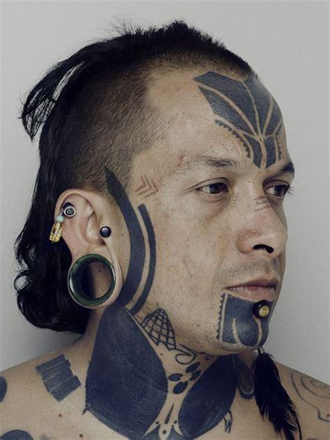 face tattoo girl mp3 face ethnic blackwork tattoo best tattoo ideas gallery