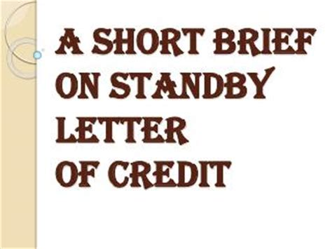 Letter Of Credit Benefits Ppt Benefits Of Sblc Standby Letter Of Credit Powerpoint Presentation Id 7367353