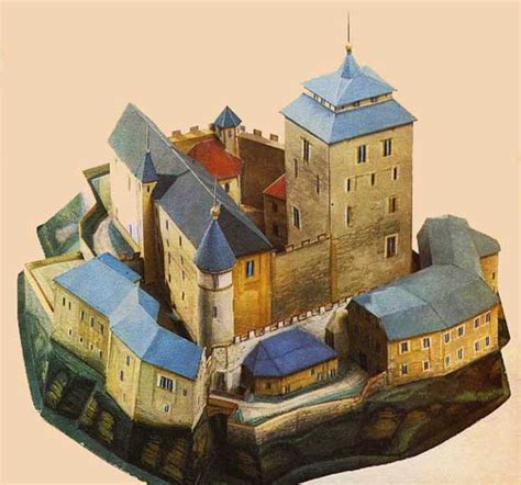 Castle Papercraft - kost castle free building paper model