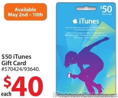 Who Has Itunes Gift Cards On Sale - 50 itunes gift cards on sale for 40 at walmart canada 20 off iphone in canada
