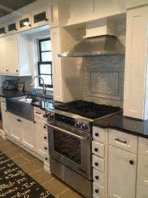 White Kitchen Cabinets With Black Hardware by White Shaker Black Hardware Kitchen Pinterest