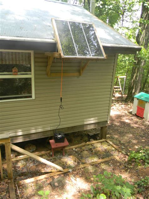 Solar Panels For Cabin by Solar Panel Mounting Small Cabin Forum
