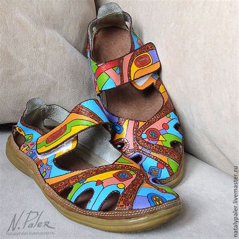 Walk Handmade Shoes - buy painting on shoes sandals quot walk with hundertwasser