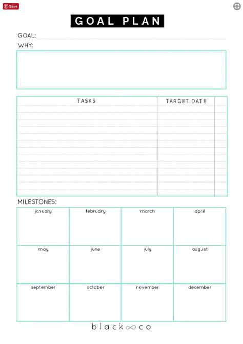 Free Printable Goal Sheets Popsugar Australia Smart Living Goal Planner Template