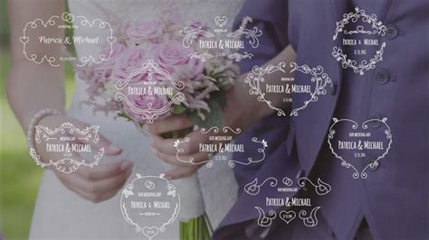 Template After Effect Tema Wedding Paket 7 unity wedding badges pack after effects template