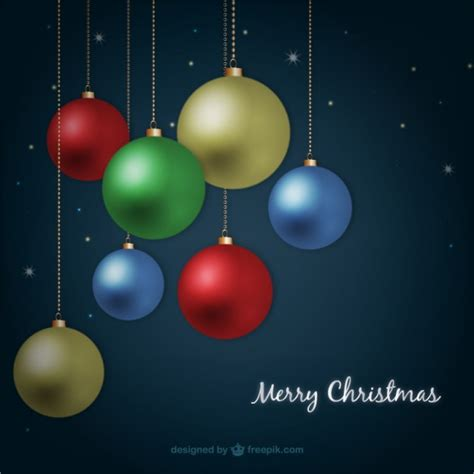 colored christmas balls vector free download