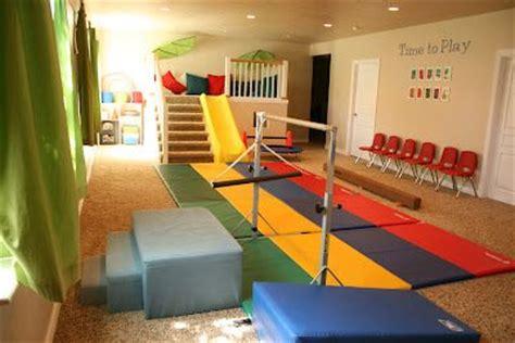 home gymnastics area  jordyn   basement