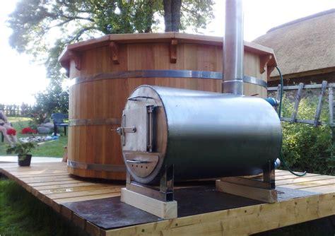 heated jacuzzi bathtub wood fired hot tub heaters chofu heaters