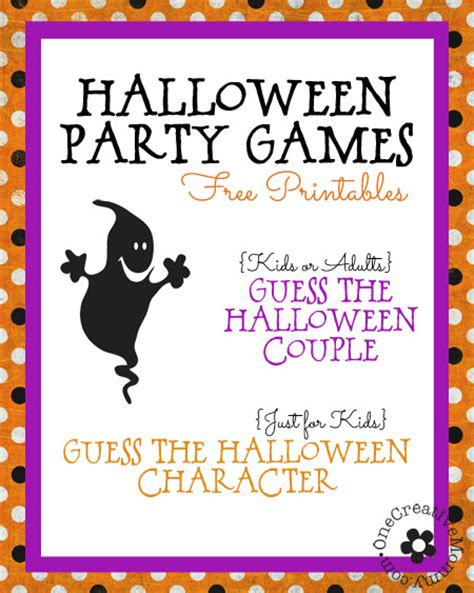 printable games for halloween party halloween party games for kids and grownups too