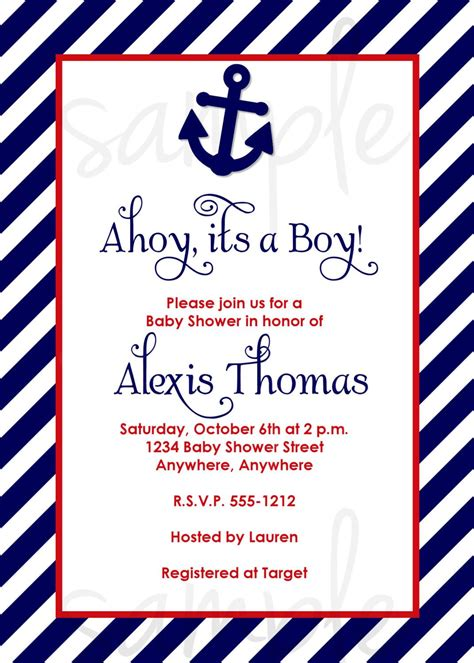 Ahoy Baby Boy Baby Shower by Ahoy It S A Boy Baby Shower Invitation Choose Colors Boy