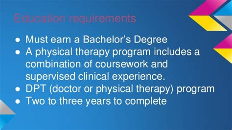 therapist requirements physical therapy
