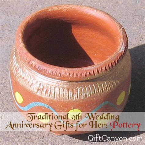 9th anniversary gift ideas for him 9th year pottery wedding anniversary gifts for gift
