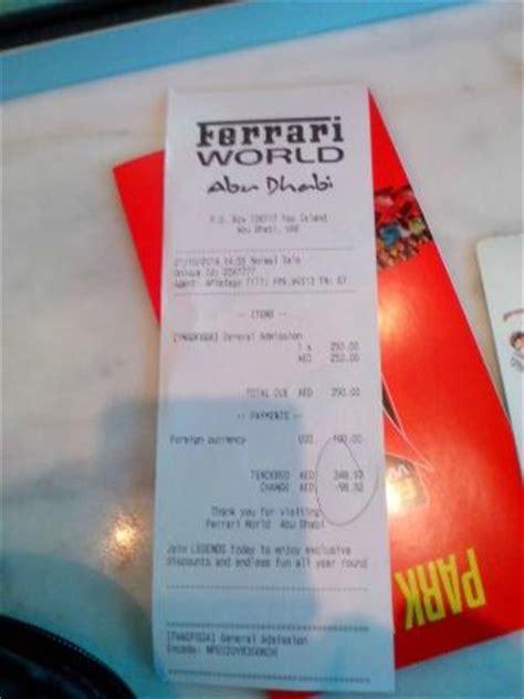 Ferrari World Entry Fee by Ticket Pode Pagar Em Dolar Picture Of Ferrari World Abu