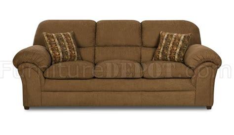 mocha fabric modern sofa loveseat set w pillow top seating