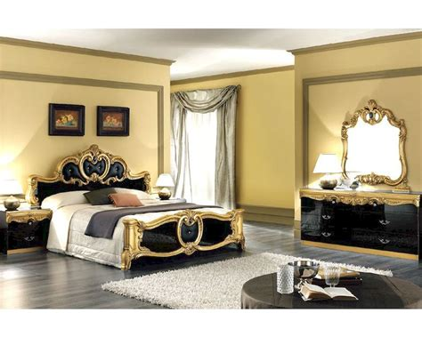 Bedroom Furniture Sets Ready Made Bedroom Set Black Baroque Classic Style Made In Italy 33b431