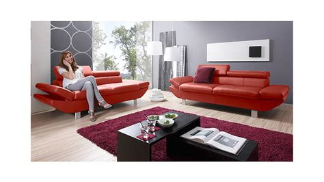 2er sofa mit relaxfunktion 2er sofa carrier polsterm 246 bel mit relaxfunktion rot 208 cm