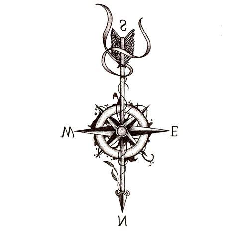 henna style compass tattoo 3pcs compass arrow waterproof temporary sticker