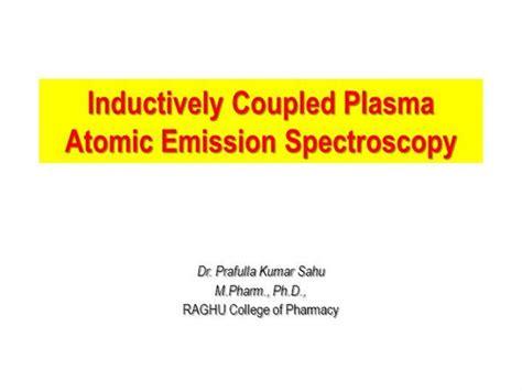 inductively coupled plasma atomic emission spectroscopy authorstream