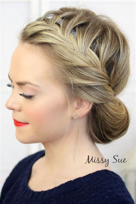 wedding updo braid soft braided updo missy sue youtube tuck and cover french braid video tutorial