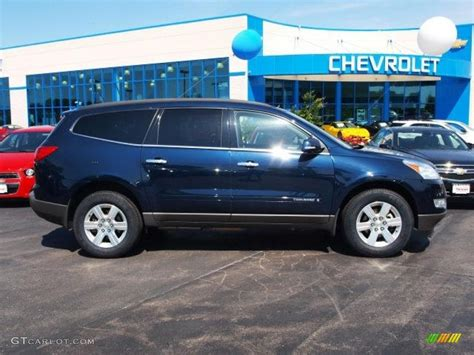 chevrolet traverse blue 2009 dark blue metallic chevrolet traverse lt 65184740