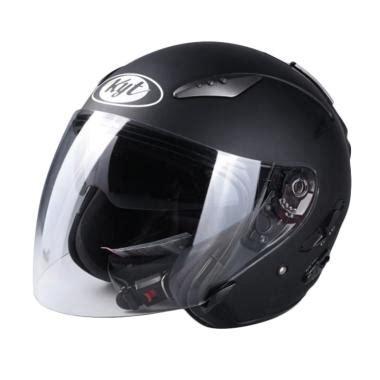Kyt Elsico Solid Black jual helm kyt half harga murah blibli