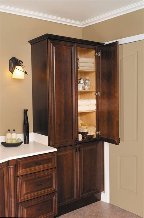 Wood Bathroom Furniture Bathroom Linen Cabinets Clever Storage Options The Homy Design